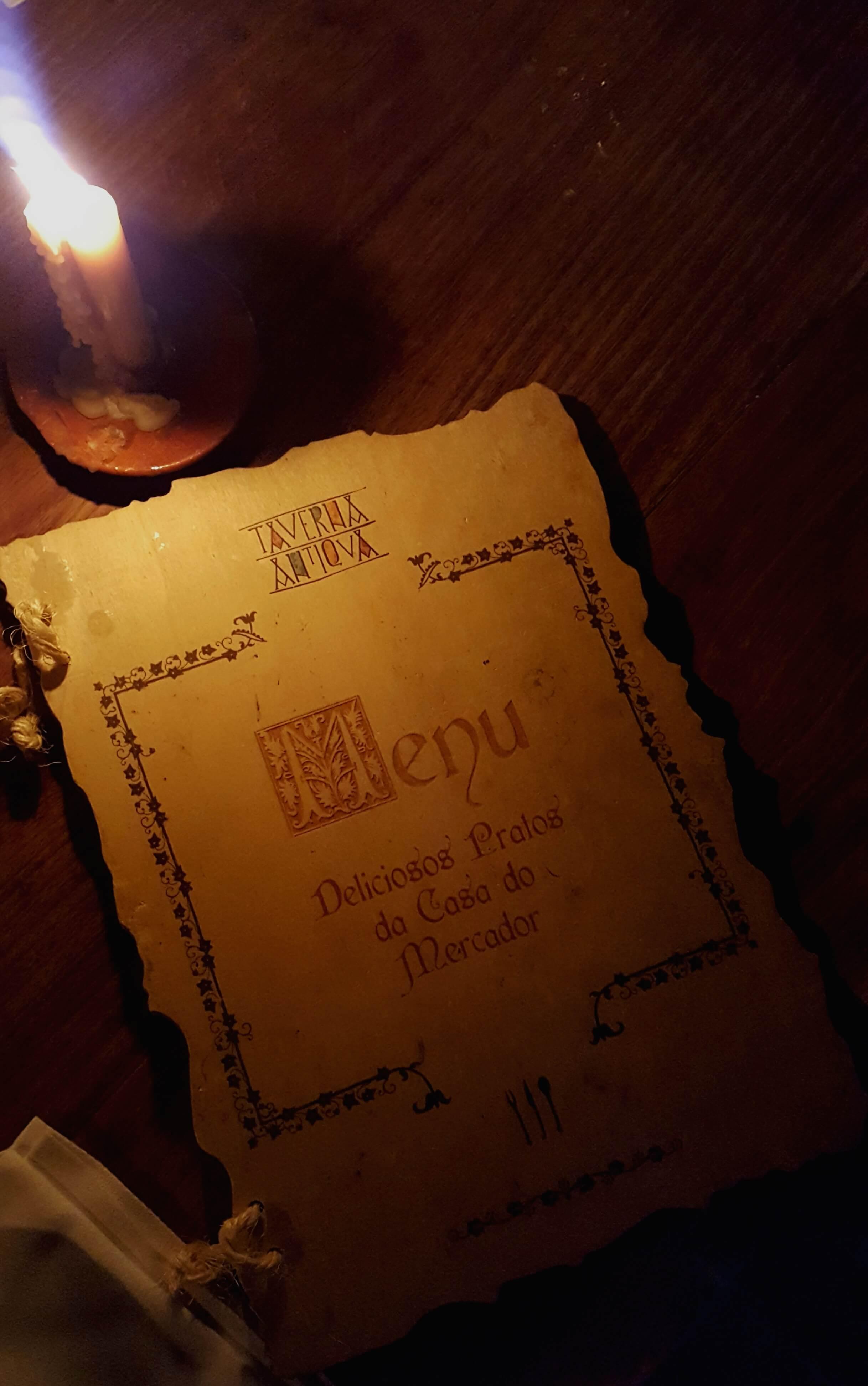 menu taverna antiqua
